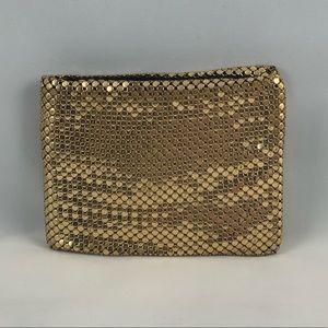 WHITING & DAVIS Vintage Gold Mesh Wallet